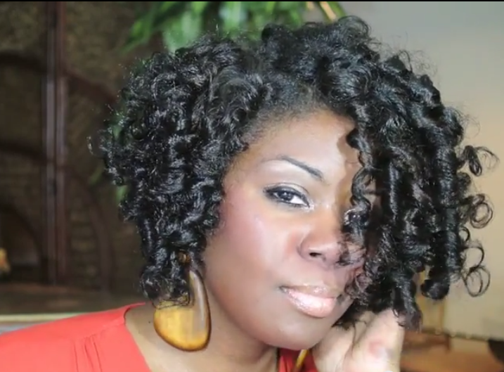 Flexi Rod Styles On Natural Hair