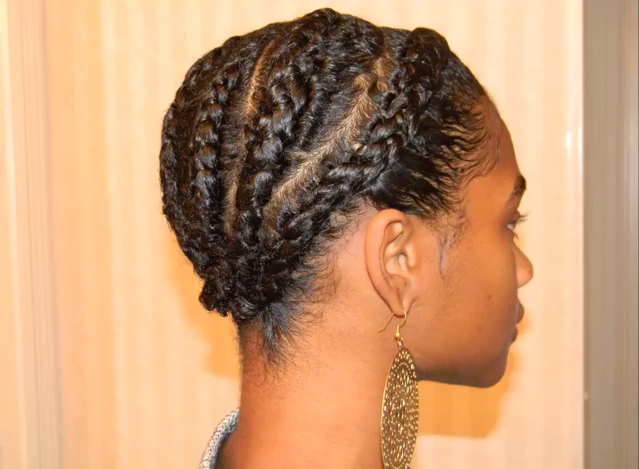 Natural Styles Cornrows With A Twa