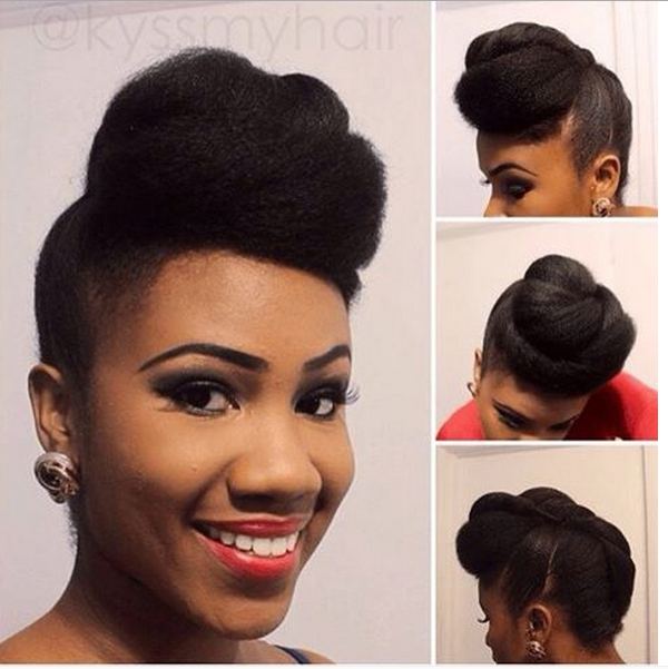 Swell Chic Natural Hairstyles For Weddings Amp More Short Hairstyles Gunalazisus