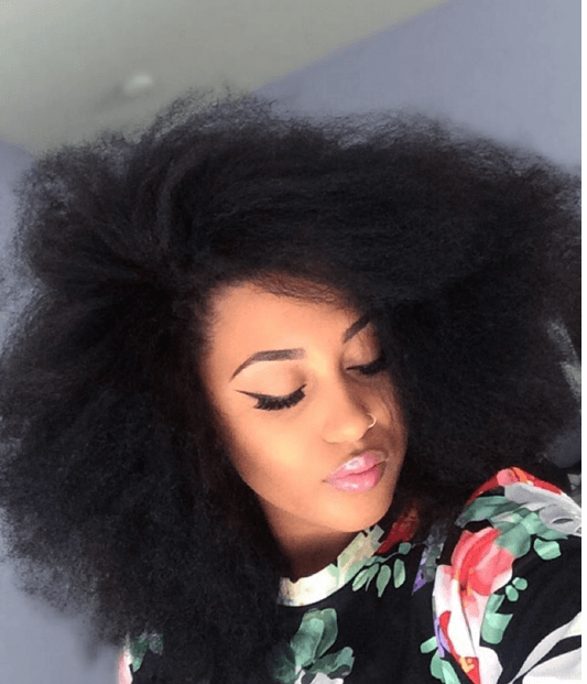 Beautiful Blow Out on Natural Hair