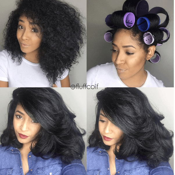 Amazing Roller Set On Natural Hair