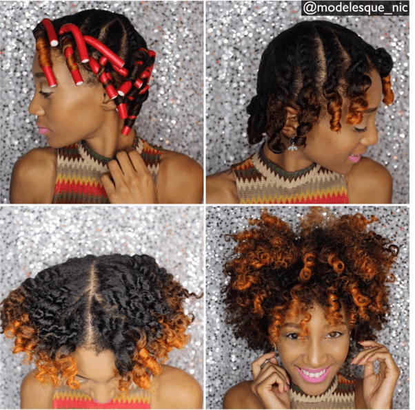 Afro Natural Hair With Highlights Twist Out Curly