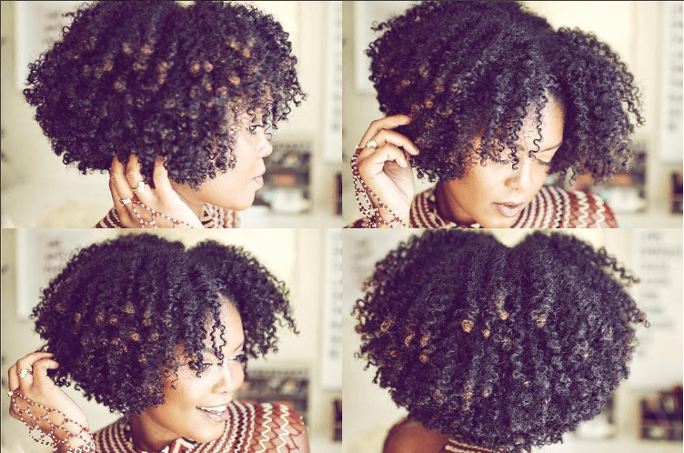Natural Curly Hair Twist Out