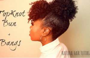 naturallyelite_ bangs n top knot