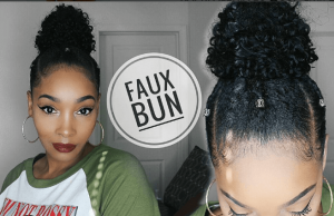 prettiemajor faux bun