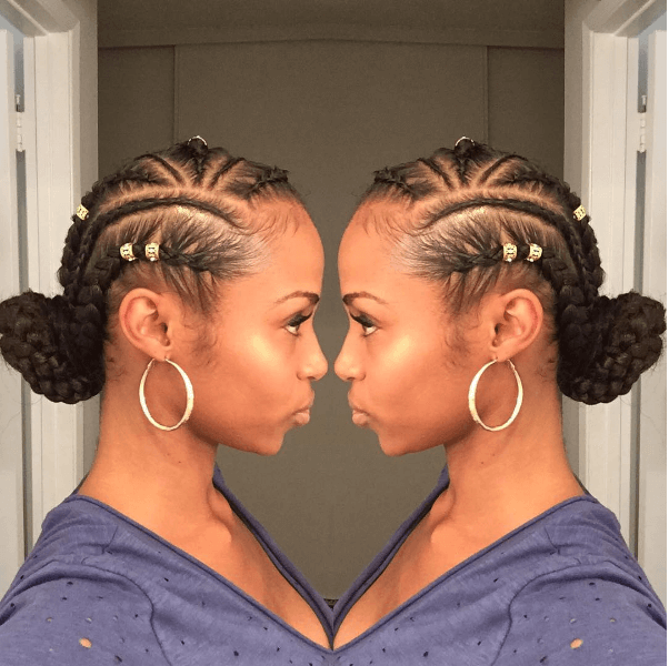 Feed In Braids W Bun Tutorial