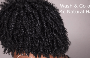 HappilyNaturalLit26 wash n go 4c natural hair