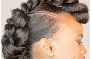 melissaerial braided mohawk protective style