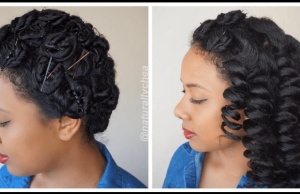 naturallychea pin curls bantu knot out cheat