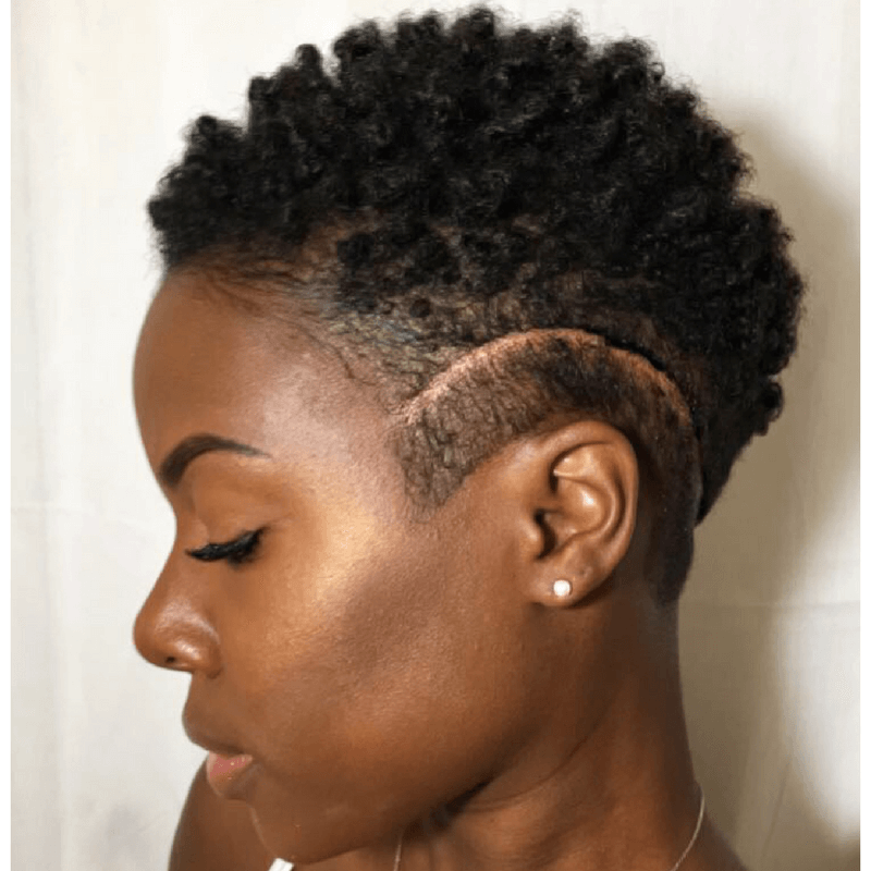 Short Tapered Natural Hairstyles For Black Women