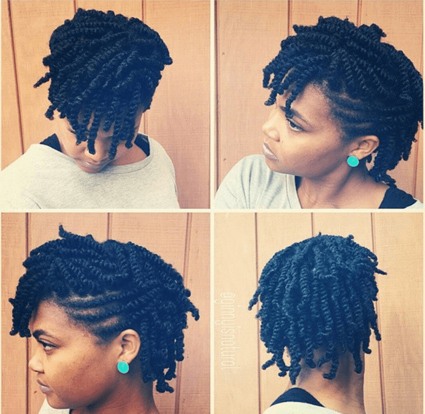 styles for two strand twist hair five easy hair styles with two strand twists 9363