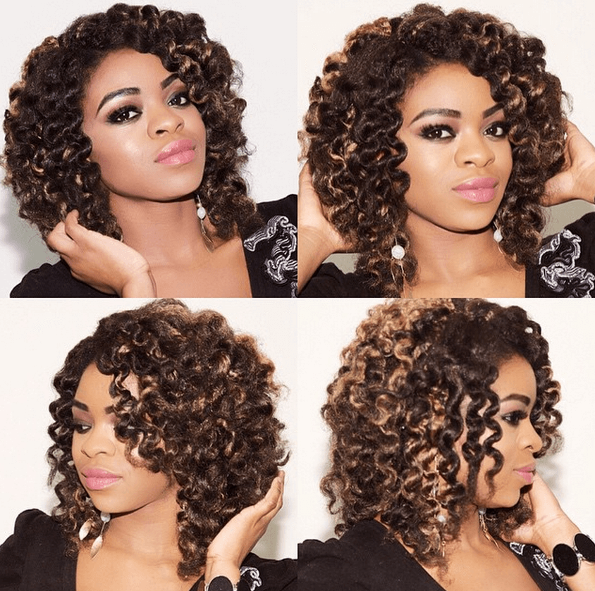 Amazing Crochet Braids With Invisible Part