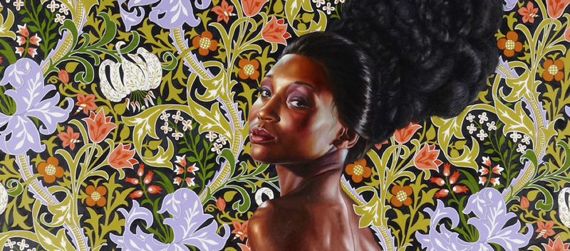 Kehinde Wiley, Mrs. Waldorf Astor, Oil on linen.