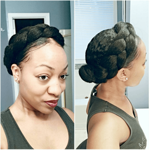 Myhairinyaco Halo Braid Natural Hair Mag