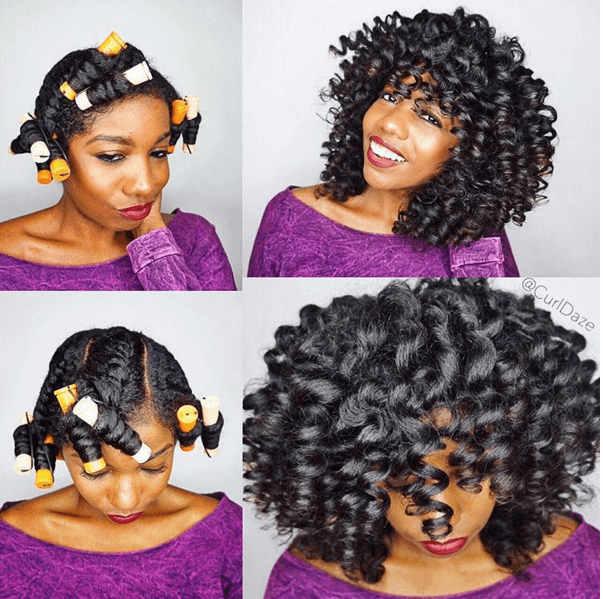 Perm Roller Set On Natural Hair