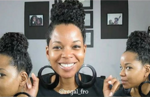 Twist Out High Bun