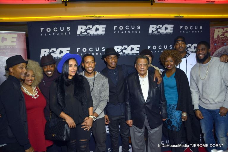 Celebrity group shot - Race screening - 2-1-2016