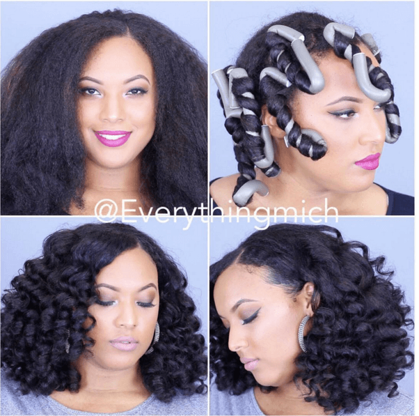 Wondrous Everythingmich Flexi Rod Set Curls Natural Hair Mag Natural Hairstyles Runnerswayorg