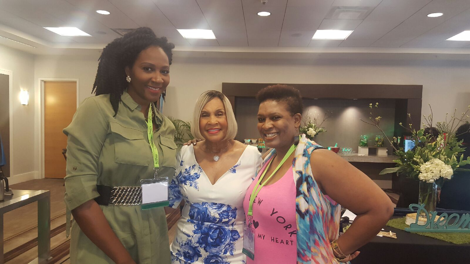Entertainment host, Anashay, Miss Robbie, and Lisa Gee. Photo courtesy of ConnectingYOUto PR Firm