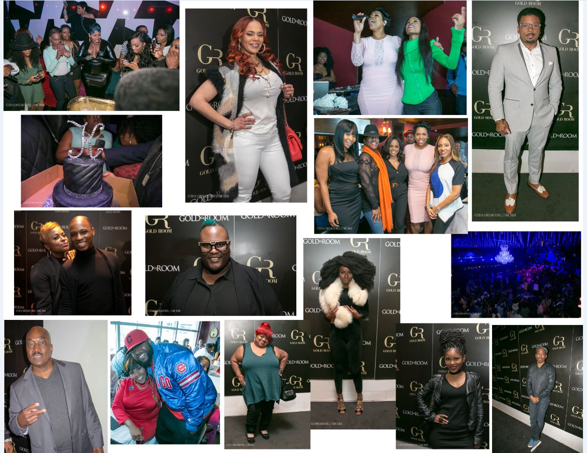 Kelly Price 43rd birthday party collage --