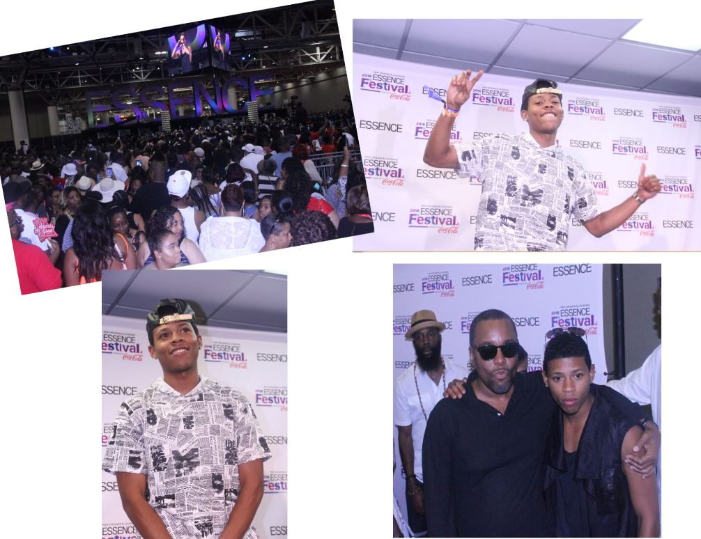 Yazz the Greatest at Essence Fest 2016 collage - Photo Credit ConnectingYOUto PR Firm