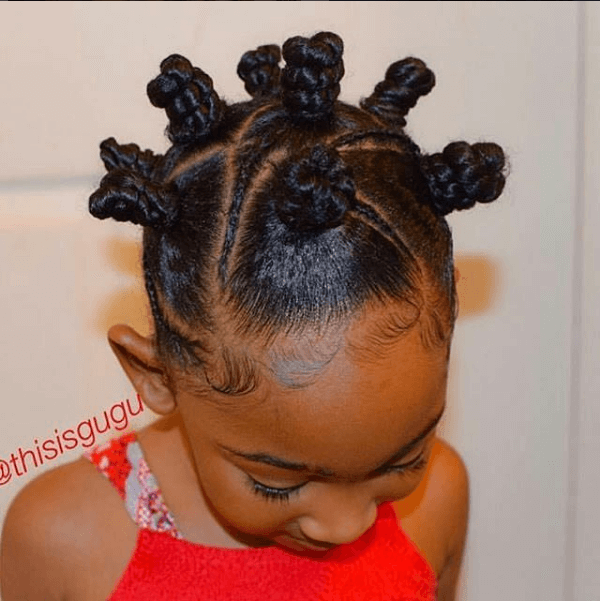 Bantu Knots For Children