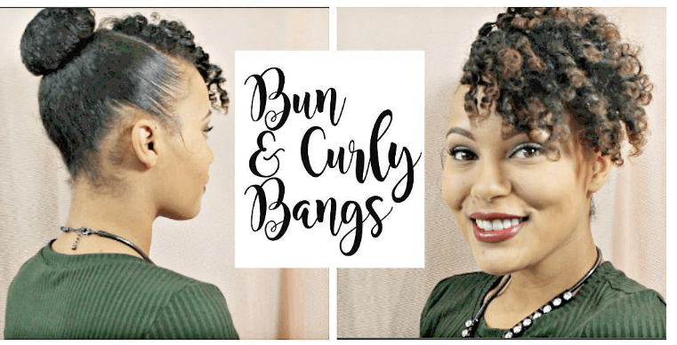 Beautiful Bun Curly Bangs