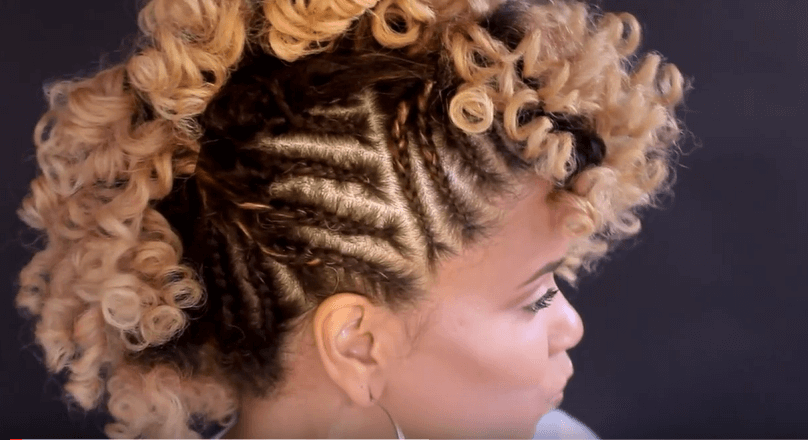 Side Cornrows With Perm Rods Natural Hair