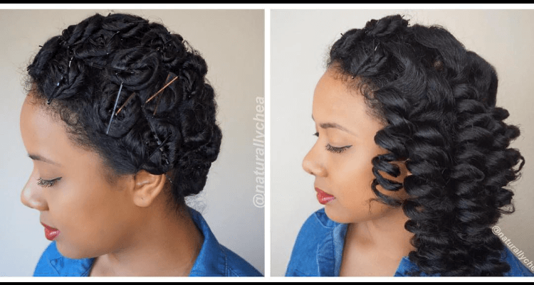 How To Pin Curl Natural African American Hair