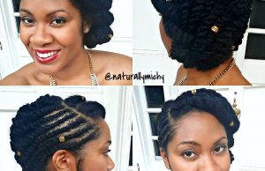 Flat Twist Bridal Hairstyle