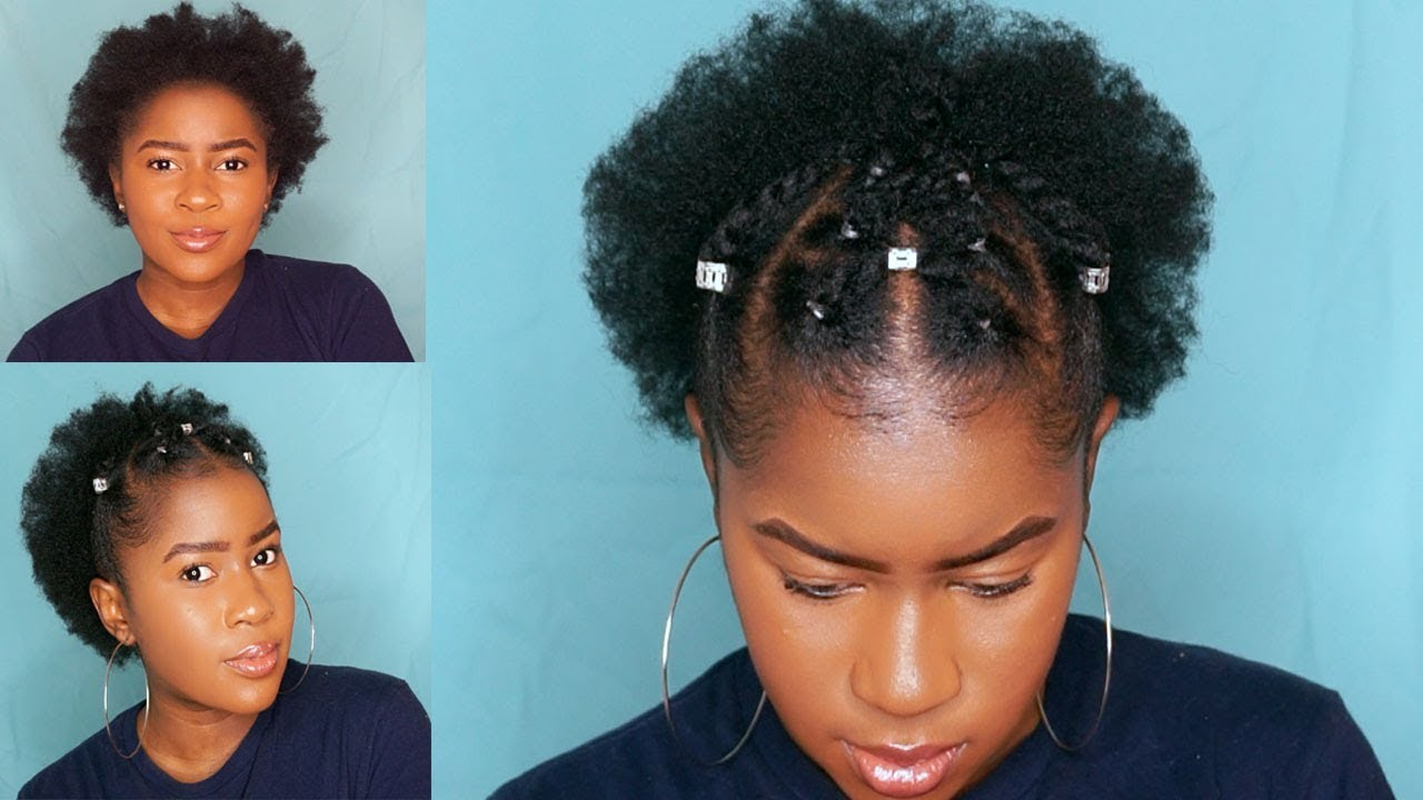 trendy two strand twist style on short 4c natural hair