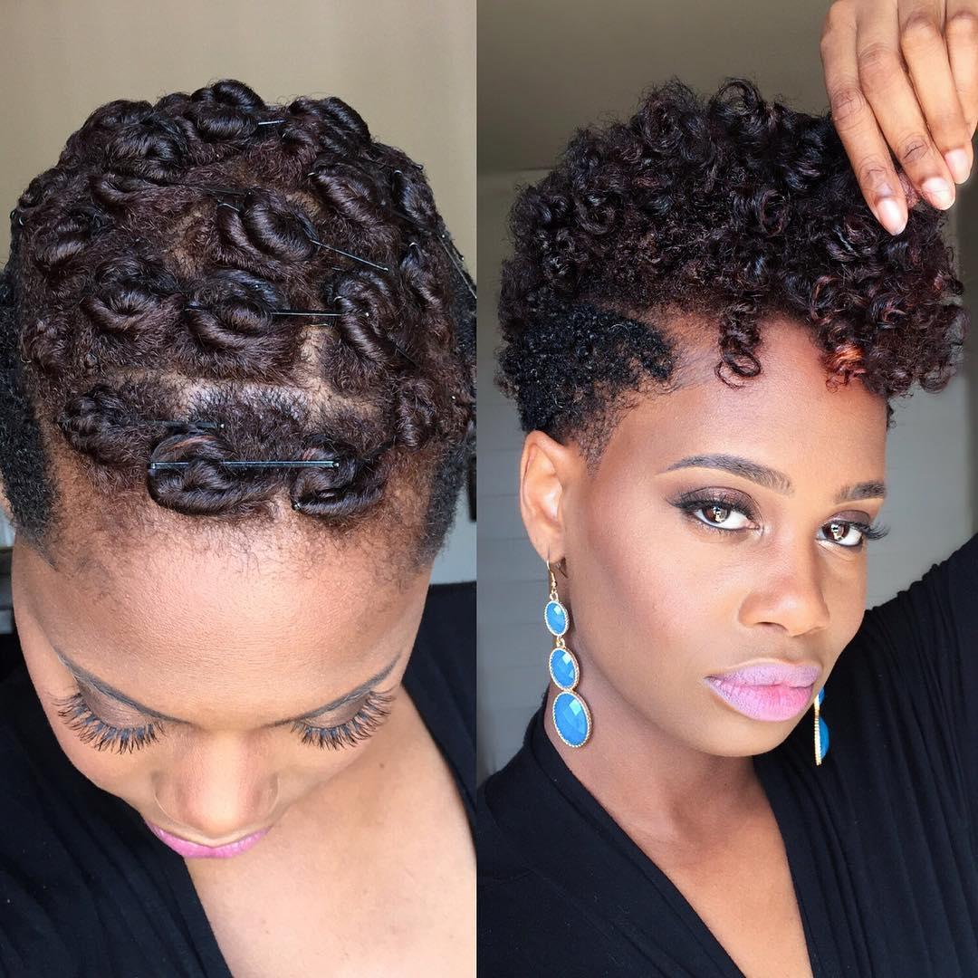 Pin Curls On Tapered Natural Hair