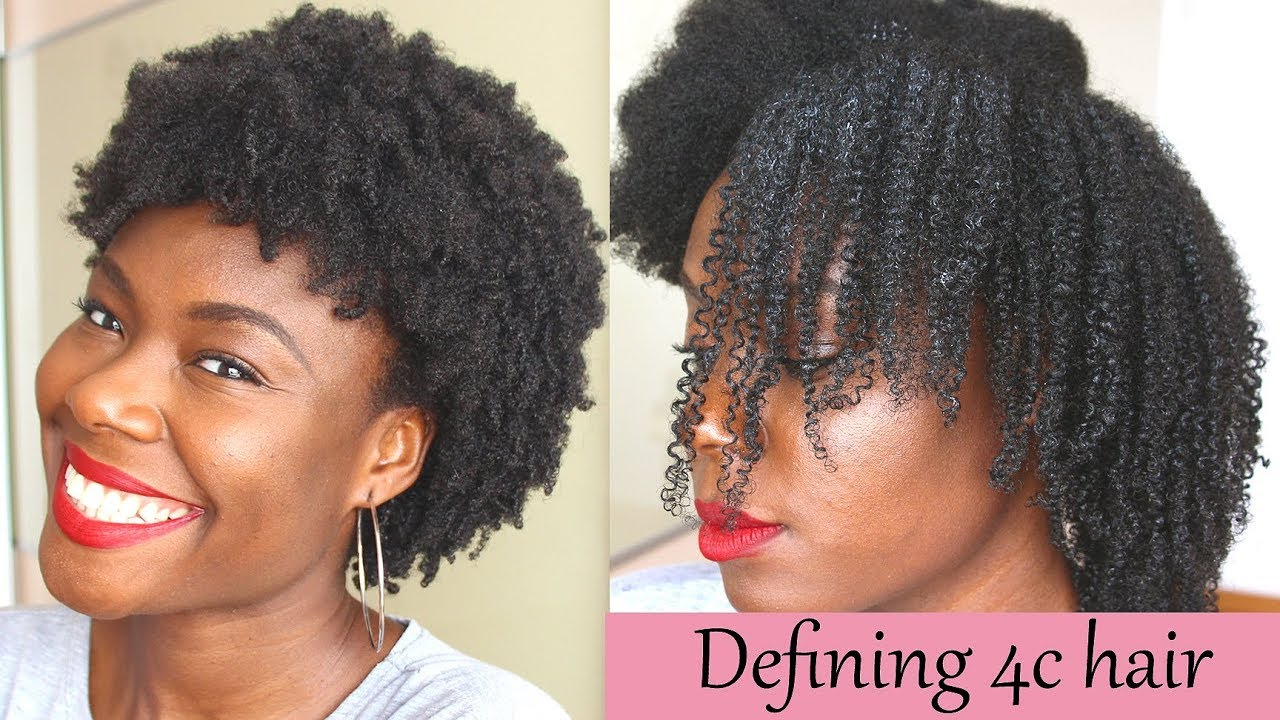 Curl Definition On 4c Hair With The L O C Method No Gel