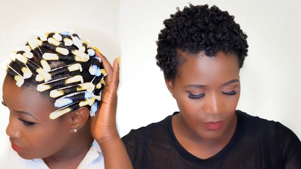 how to do a rod set on short natural hair