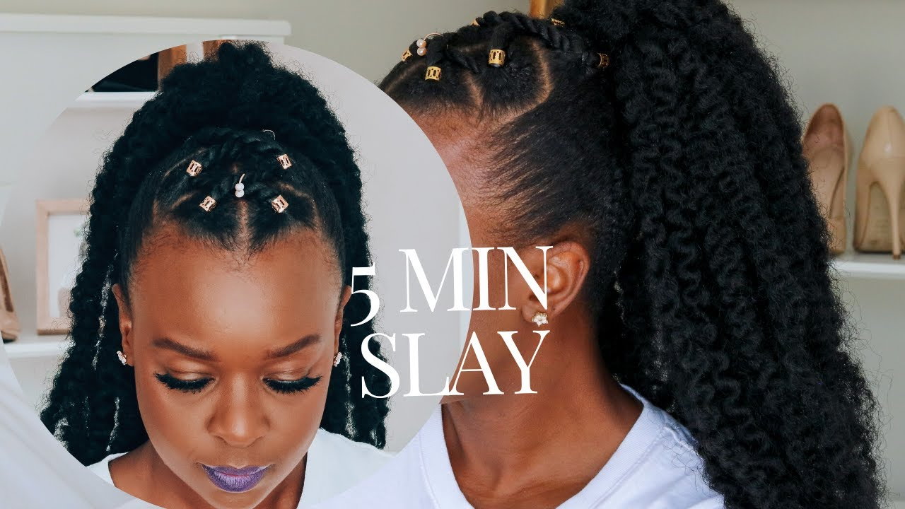 No Cornrow Easy Protective Style For Short 4c Natural Hair